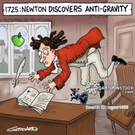 Newton discovers anti-gravity